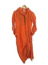 【LOEWE】【フーデッドドレス】【イタリア製】ロエベ『リネン長袖ワンピース size36』S2196110FA レディース 1週間保証【中古】b01f/h07AB