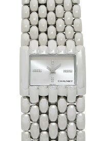 【CHAUMET】【電池交換済】ショーメ『ケイシス XL ダイヤ文字盤』099400-032 レディース クォーツ 1ヶ月保証【中古】