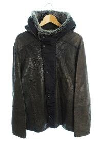 【Louis Vuitton】【イタリア製】ルイヴィトン『切替レザーコート size52』メンズ 1週間保証【中古】