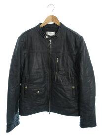 【GRIFONI】【シングルライダース】『中綿レザージャケット size52』GD161014/62 メンズ ブルゾン 1週間保証【中古】
