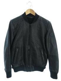 【DIESEL】【アウター】ディーゼル『切替レザージャケット sizeS』メンズ 革ジャン 1週間保証【中古】