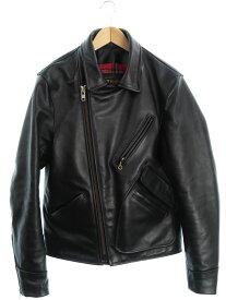 【VANSON】【ARROW】【アメリカ製】【アウター】バンソン『レザーライダースジャケット size40』メンズ 革ジャン 1週間保証【中古】