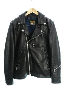 【VANSON】【アメリカ製】【アウター】バンソン『レザーライダースジャケット size38』メンズ 革ジャン 1週間保証【中古】