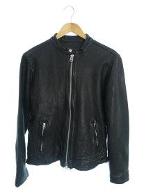 【AVIREX】【アウター】アヴィレックス『レザーシングルライダースジャケット sizeM』6161065 メンズ 革ジャン 1週間保証【中古】