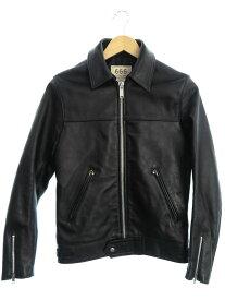 【666 Leather Wear】【英国製】【アウター】トリプルシックスレザーウェア『レザージャケット size34』メンズ 革ジャン 1週間保証【中古】