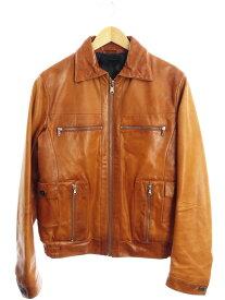 【DIESEL BLACK GOLD】【イタリア製】【アウター】ディーゼルブラックゴールド『レザージャケット size48』メンズ 革ジャン 1週間保証【中古】