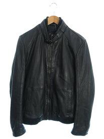 【HUGO BOSS】【アウター】ヒューゴボス『中綿レザージャケット size50』メンズ 革ジャン 1週間保証【中古】