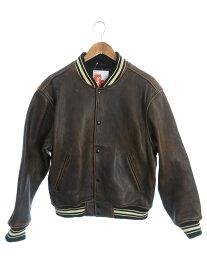【Supreme】【Painted Leather Varsity Jacket】シュプリーム『レザースタジャン sizeM』19SS メンズ ジャケット 1週間保証【中古】