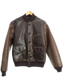 【RRL RALPH LAUREN】【Meyers Leather Jacket】ダブルアールエルラルフローレン『レザージャケット sizeM』7398418RMEYJ メンズ 革ジャン 1週間保証【中古】