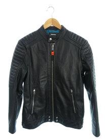 【DIESEL】【アウター】ディーゼル『レザージャケット sizeS』メンズ 革ジャン 1週間保証【中古】