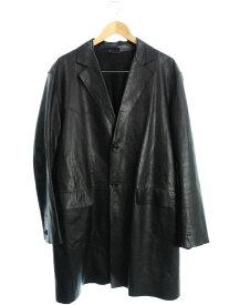 【JIL SANDER】【イタリア製】【アウター】ジルサンダー『レザーコート size52』メンズ 1週間保証【中古】
