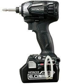 【HiKOKI】日立工機『コードレスインパクトドライバ』WH18DDL2 2LYPK(B) ストロングブラック 18V 6.0Ah×2 トリプルハンマ【新品】b00t/N