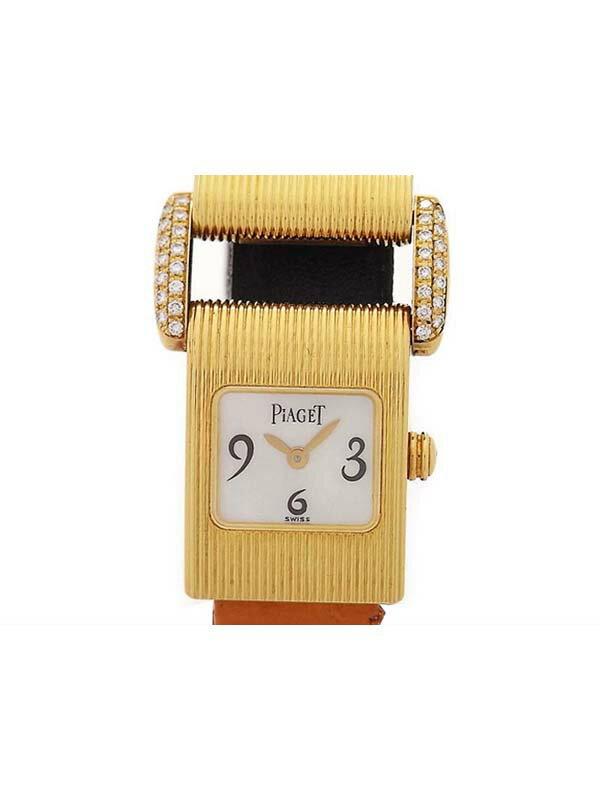 【PIAGET】ピアジェ『ミスプロトコール』レディース クォーツ 6ヶ月保証【中古】b03w/h15AB