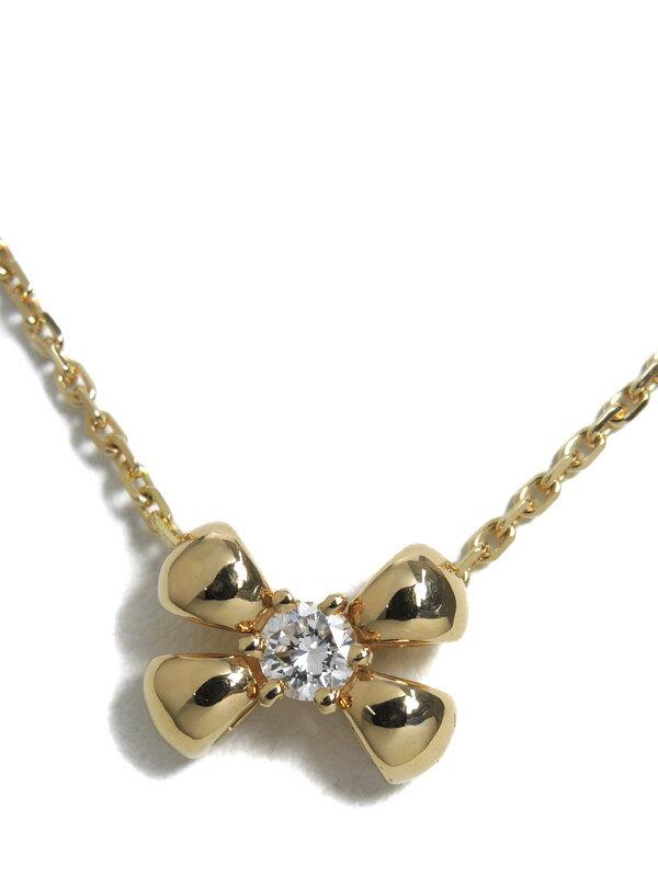 【CHAUMET】ショーメ『K18YG ネックレス ダイヤ』1週間保証【中古】b02j/h03A