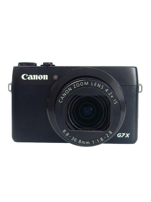 【Canon】キヤノン『PowerShot G7 X』PSG7X ブラック 2020万画素 光学4.2倍 広角24mm SDXC Wi-Fi コンパクトデジタルカメラ【中古】b02e/h19AB