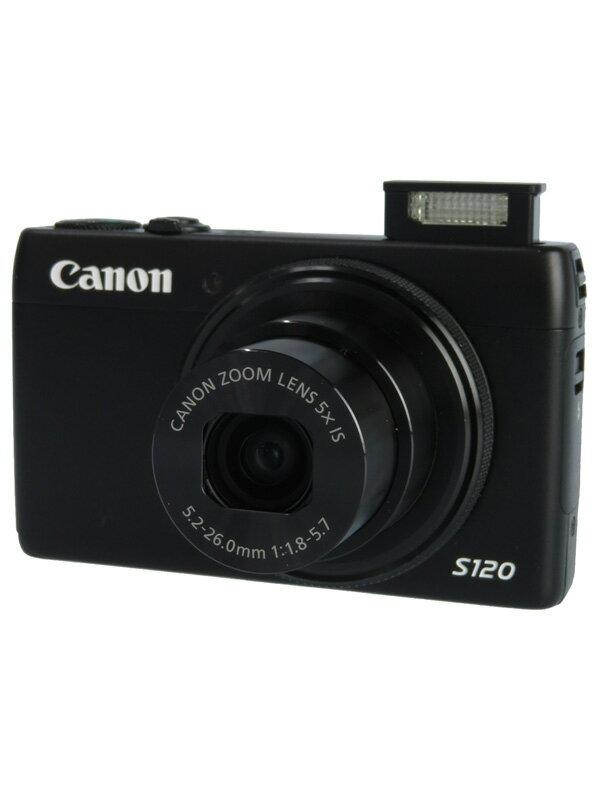 【Canon】キヤノン『PowerShot(パワーショット) S120』PSS120(BK) ブラック 1210万画素 光学5倍 コンパクトデジタルカメラ 1週間保証【中古】b03e/h16B