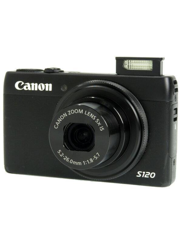 【Canon】キヤノン『PowerShot(パワーショット) S120』PSS120(BK) ブラック 1210万画素 光学5倍 コンパクトデジタルカメラ 1週間保証【中古】b05e/h12AB