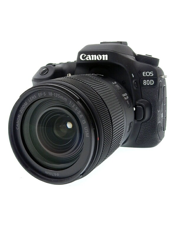 【Canon】キヤノン『EOS 80D EF-S18-135 IS USMレンズキット』EOS80D18135ISUSMLK 2420万画素 SDXC デジタル一眼レフカメラ 1週間保証【中古】b02e/h09AB