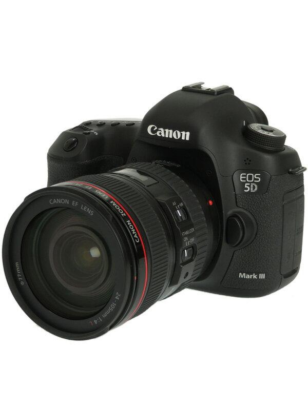 【Canon】キヤノン『EOS 5D Mark III EF24-105L IS USM レンズキット』EOS5DMK3LKIT デジタル一眼レフカメラ 1週間保証【中古】b06e/h18B