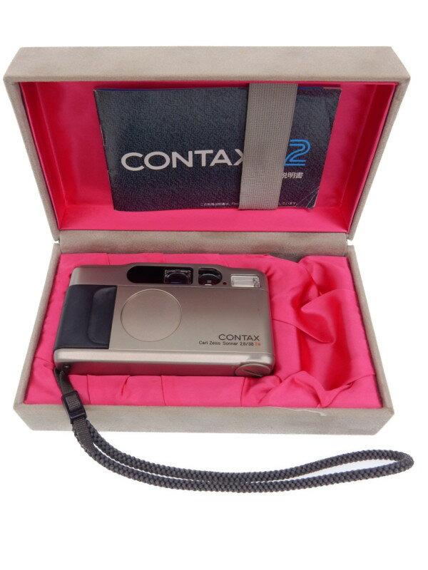 【CONTAX】コンタックス『T2』035392 38mmF2.8 コンパクトフィルムカメラ 1週間保証【中古】b03e/h20AB