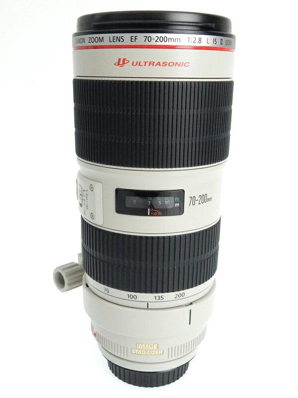 【Canon】キヤノン『EF70-200mm F2.8L IS II USM』EF70-200LIS2 望遠ズーム 手ブレ補正 一眼レフカメラ用レンズ 1週間保証【中古】b05e/h12AB