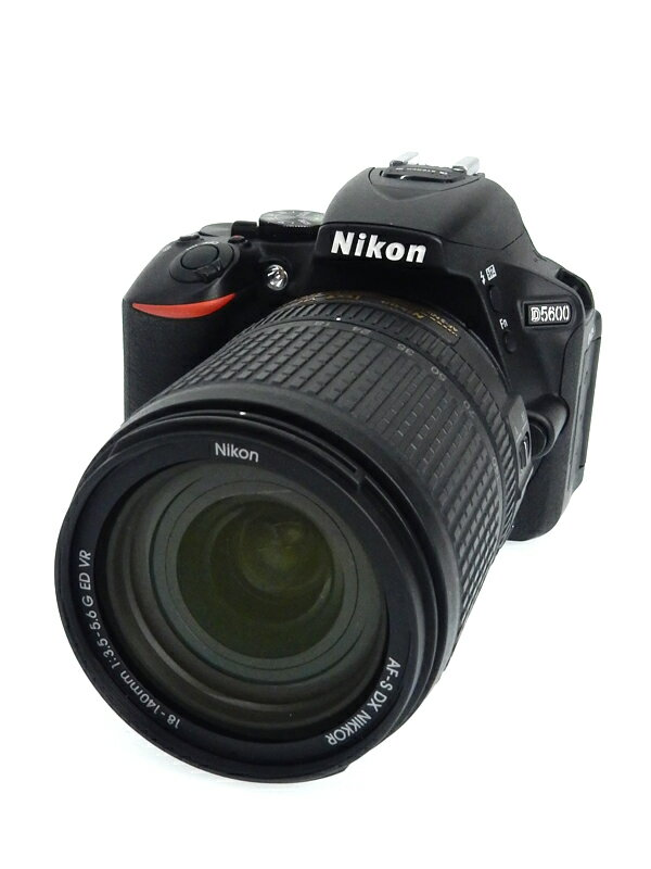 【Nikon】ニコン『D5600 18-140 VR レンズキット』2016年 2416万画素 3.2インチ デジタル一眼レフカメラ 1週間保証【中古】b05e/h12AB