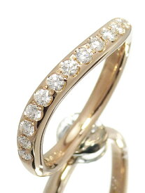 【POLA】【仕上済】ポーラ『K18PG ダイヤモンド0.26ct リング ウェーブデザイン』12号 1週間保証【中古】