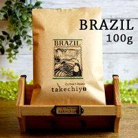 ブラジル 100g 【珈琲 コーヒー コーヒー豆 珈琲豆 ギフト ブラジル タケチヨ 自家焙煎】