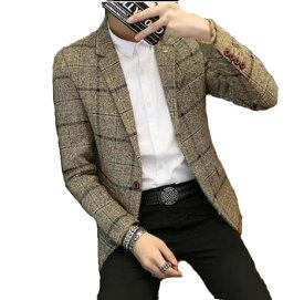 春夏秋新品!メンズファッション スーツコートレジャー通勤コート テーラードジャケット メンズコート トップス ビジネス オフィスフォーマルコート 男性ジャケット アウター スリムスーツ ウォッシャブル紳士青年 薄タイプ 結婚式通勤OL/面接/事務服 3色入