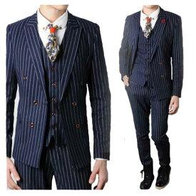 ec4c479048d32 メンズファッション 紳士スーツセット メンズスーツ 3点セット スリムスーツビジネススーツ セットアップ フォーマルスーツ リクルートスーツ結婚式  長袖 忘年会司会者 ...