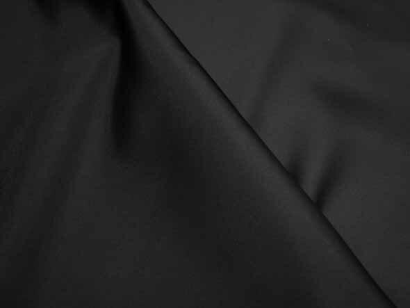 『東レ ポリエステルサテン』☆ 漆黒のブラック ☆生地 ポリエステル 100%(帯電防止加工品)生地/サテン/激安/衣装/発表会/タケヒロヤ