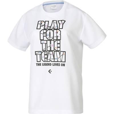 CONVERSE/コンバース 7FウィメンズプリントTシャツ人気のコンバースシリーズ♪CB372301-1119ホワイト×ブラック