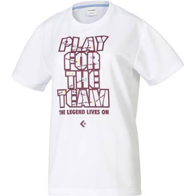CONVERSE/コンバース 7FウィメンズプリントTシャツ人気のコンバースシリーズ♪CB372301-1169ホワイト×マロン
