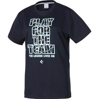 CONVERSE/コンバース 7FウィメンズプリントTシャツ人気のコンバースシリーズ♪CB372301-2900ネイビー