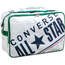 部活用&通学用バッグに♪CONVERSE/コンバース 8FエナメルショルダーMC1612053-1146 ホワイト/ケリー