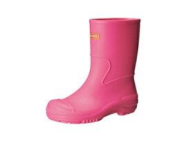 キッズ&ジュニア向けのシンプルなレインシューズ♪モントレ/MONTRE107 SCB1070ピンク レインブーツ レインシューズ 長靴台風 レイン 雨 通学 通園 雪遊び