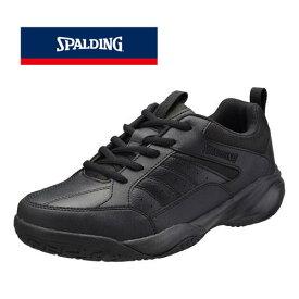 普段履きやトレーニングにオススメ♪SPALDING/スポルディング メンズ CIS-353 ブラック コートシューズ トレーニング 普段履き カジュアル