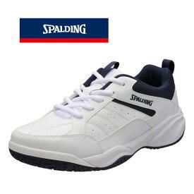 普段履きやトレーニングにオススメ♪SPALDING/スポルディング メンズ CIS-353 ホワイト/ネイビー コートシューズ トレーニング 普段履き カジュアル