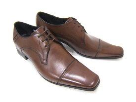 これぞ定番!伝統のストレートチップ紳士靴!KATHARINE HAMNETT LONDON キャサリン ハムネット ロンドン紳士靴 KH-3980 ダークブラウン ストレートチップ スクエアトゥ フォーマル パーティ 送料無料