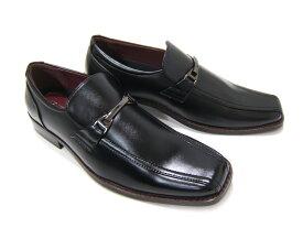 ウェルト部分がオシャレ!お手入れも簡単!HIROKO KOSHINO/ヒロコ コシノ ビジネス HK-9557紳士靴 ブラック スワールモカ ビット付き3Eワイズ スクエアトゥ 送料無料