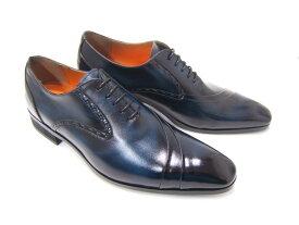 イタリアンモードを体現する上質な革靴!(刷毛筋が見えるこだわりの染色仕様)アントニオ ドュカッティ/ANTONIO DUCATI紳士靴 DC-1191 ネイビー 片流れ 内羽根 送料無料