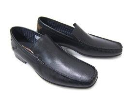 オフタイムに履く大人のレザースリップオン!KATHARINE HAMNETT LONDON キャサリン ハムネット ロンドン紳士靴 31559 ブラック Uチップ スリップオン カジュアル パーティ 送料無料