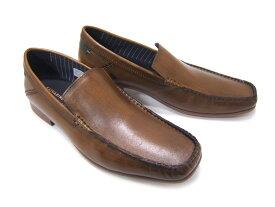 オフタイムに履く大人のレザースリップオン!KATHARINE HAMNETT LONDON キャサリン ハムネット ロンドン紳士靴 31559 ブラウン Uチップ スリップオン カジュアル パーティ 送料無料