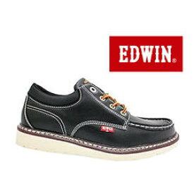 新作セレクト!ジーンズブランドの老舗♪EDWIN/エドウィン カジュアル ブーツ ED-7925 ブラック 4cm防水仕様 防滑ソール