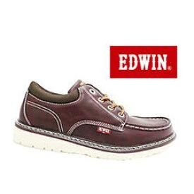 新作セレクト!ジーンズブランドの老舗♪EDWIN/エドウィン カジュアル ブーツ ED-7925 レッドブラウン 4cm防水仕様 防滑ソール
