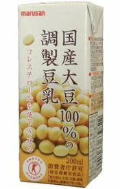 マルサン豆乳/特定保健用食品/国産大豆100%の調整豆乳200ml×24本  送料無料