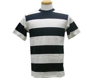 WAREHOUSE服装房屋T-衬衫4071短袖3英寸边缘TEE(黑色/白)