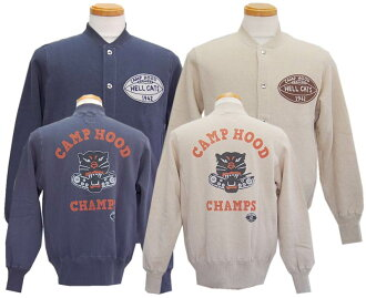 "TOY'S McCOY toys McCoy SNAP BUTTON SWEAT SHIRT HELL CATS 1942 ""CAMP HOOD CHAMPS"""