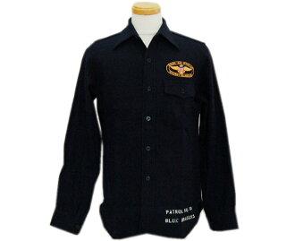 "BUZZ RICKSON'S バズリクソンズ long sleeves shirt C.P.O.SHIRTS ""NAVY DEPARTMENT"" NAVAL AIR STATION WHIDBEY ISLAN"