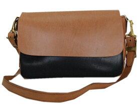 DAPPER'Sダッパーズ バック Combination Leather Mini Shoulder Bag LOT1190(BRANDY/BLACK(BROWN BASE)